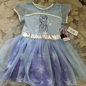 Disney Frozen Dress with cape. New!